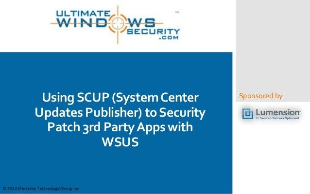 Wsus App Publisher