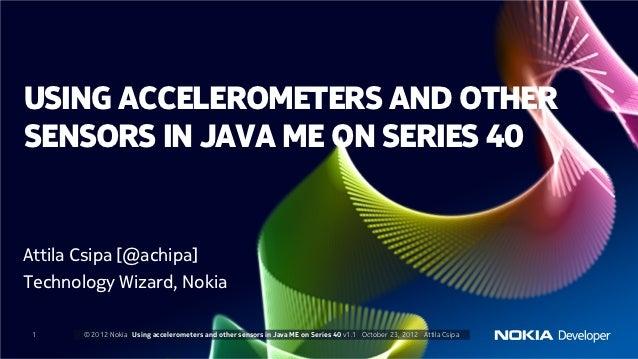 Using sensors in java me apps on series 40