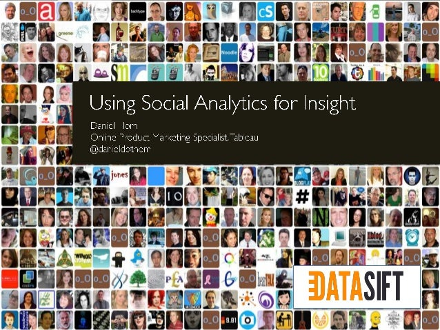 Using Social Analytics for Insight