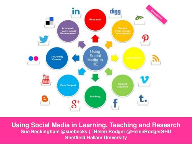 Using Social Media in Learning, Teaching and Research Sue Beckingham @suebecks | | Helen Rodger @HelenRodgerSHU Sheffield ...