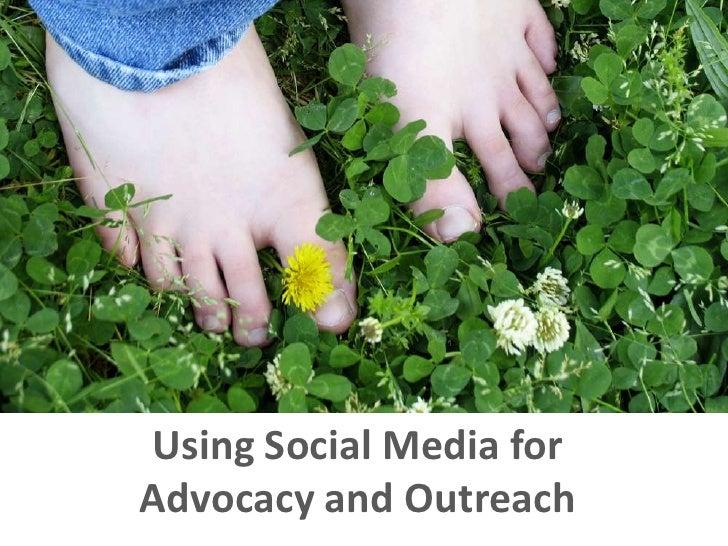 Using social media for advocacy and outreach
