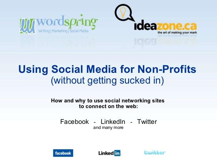 Using Social Media For Non Profits Vv
