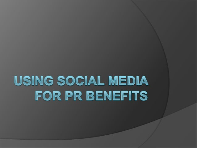 Social Media and PR   Whilst social media sites provide excellent opportunities for brands to interact and    gather info...