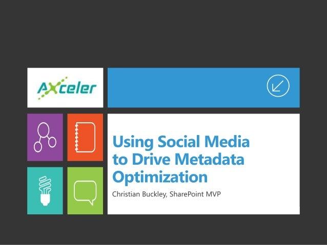 Using Social Media to Drive Metadata Optimization