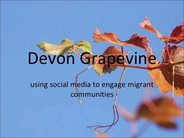 Devon Grapevine using social media to engage migrant communities