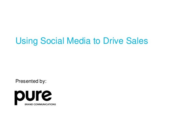 Using Social Media to Generate Sales