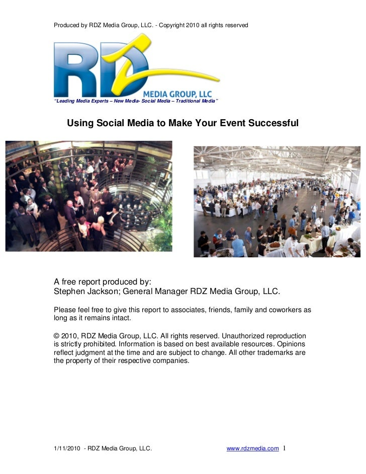 """Produced by RDZ Media Group, LLC. - Copyright 2010 all rights reserved     """"Leading Media Experts – New Media- Social Medi..."""