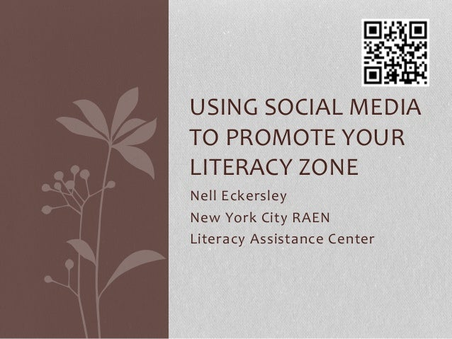 Using social media to promote your literacy zone