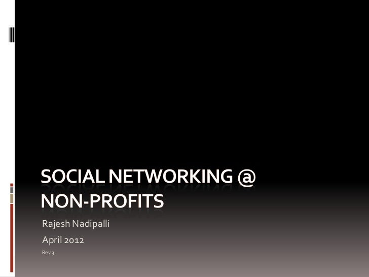 Social Networking for Non-Profits