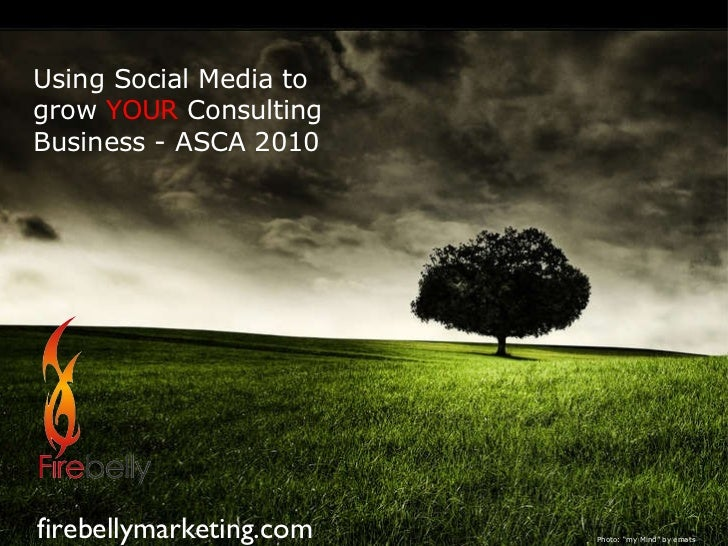 "Using Social Media to grow   YOUR  Consulting Business - ASCA 2010 firebellymarketing.com Photo: ""my Mind"" by emats"