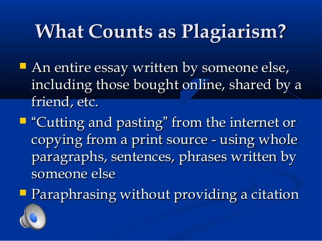 What counts as plagiarism?