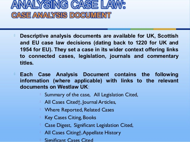 law case analysis