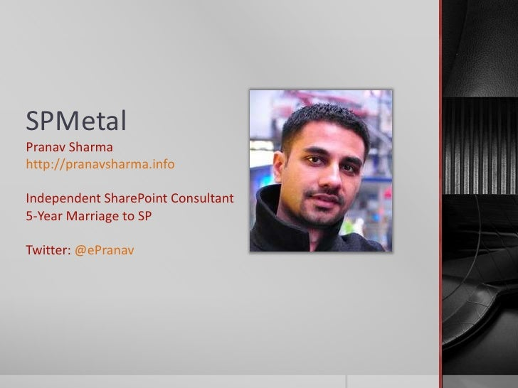 Using SP Metal for faster share point development