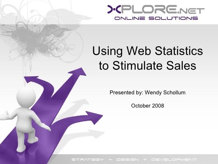Using Website Statistics To Stimulate Sales