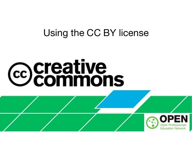 Using the CC BY license