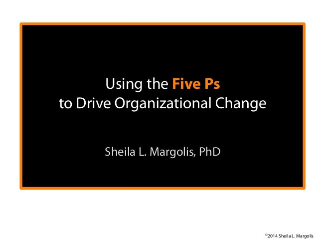 Using the Five Ps to Drive Sheila L. Margolis, PhD  	     ©2014 Sheila L. Margolis