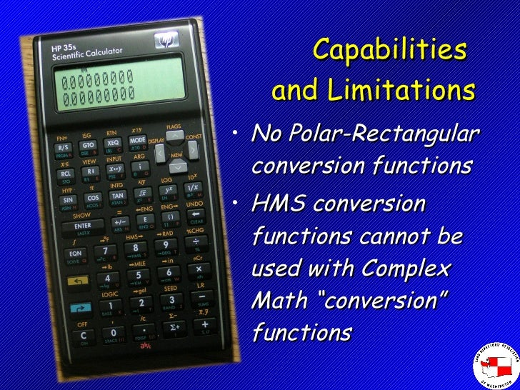 Hp35s Rectangular Polar Conversions