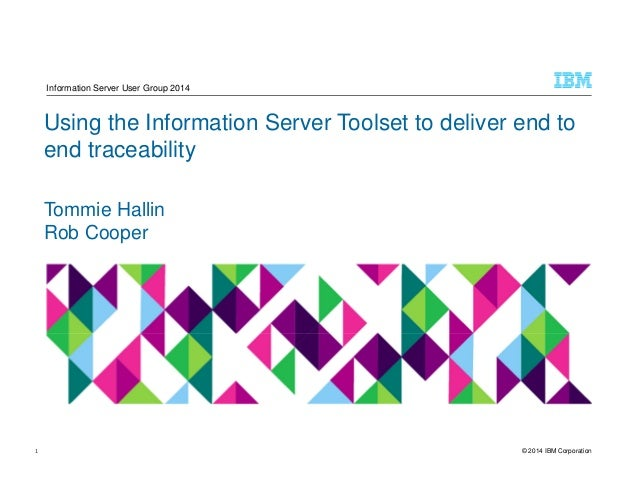 © 2014 IBM Corporation Using the Information Server Toolset to deliver end to end traceability Tommie Hallin Rob Cooper In...