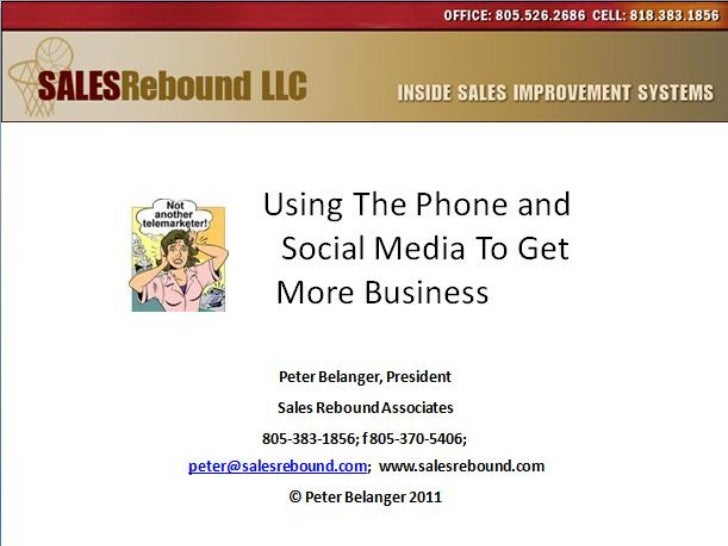 Using The Phone And Social Media To Get More Business