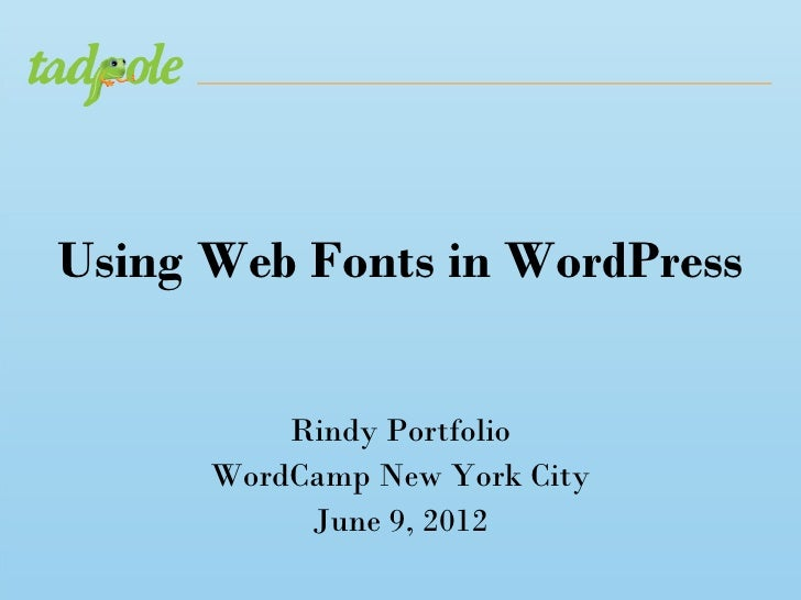 Using web fonts in word press