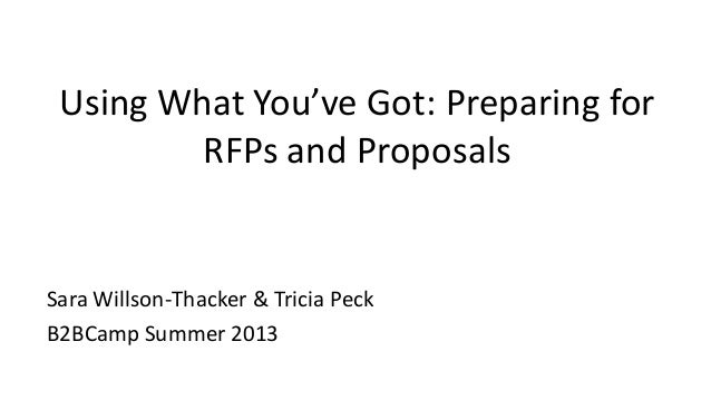 Copyright © 2013 AirWatch, LLC. All rights reserved. Proprietary & Confidential. Using What You've Got: Preparing for RFPs...