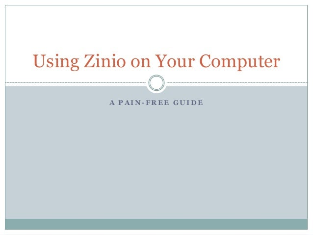 Using Zinio On Your Computer