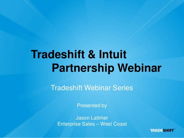 Webinar: The Tradeshift & Intuit Partnership