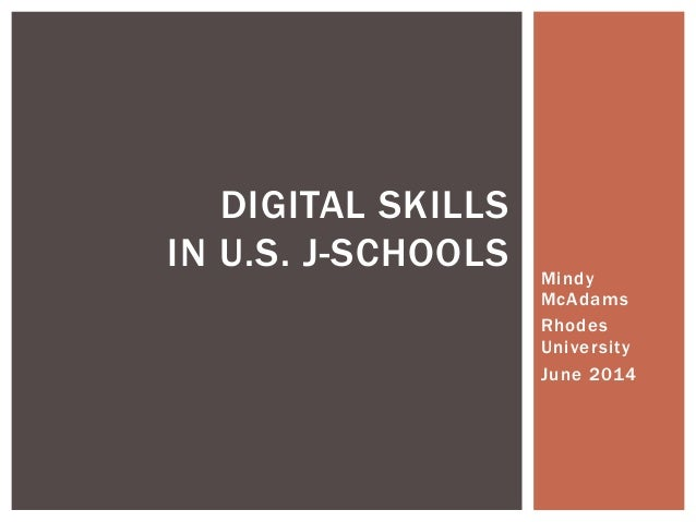U.S. j-schools and digital skills