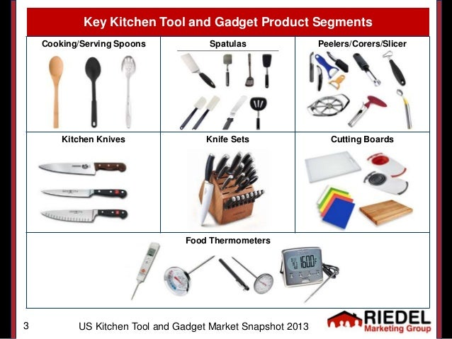 Us kitchen tool gadget market snapshot 2013 for Kitchen equipment names