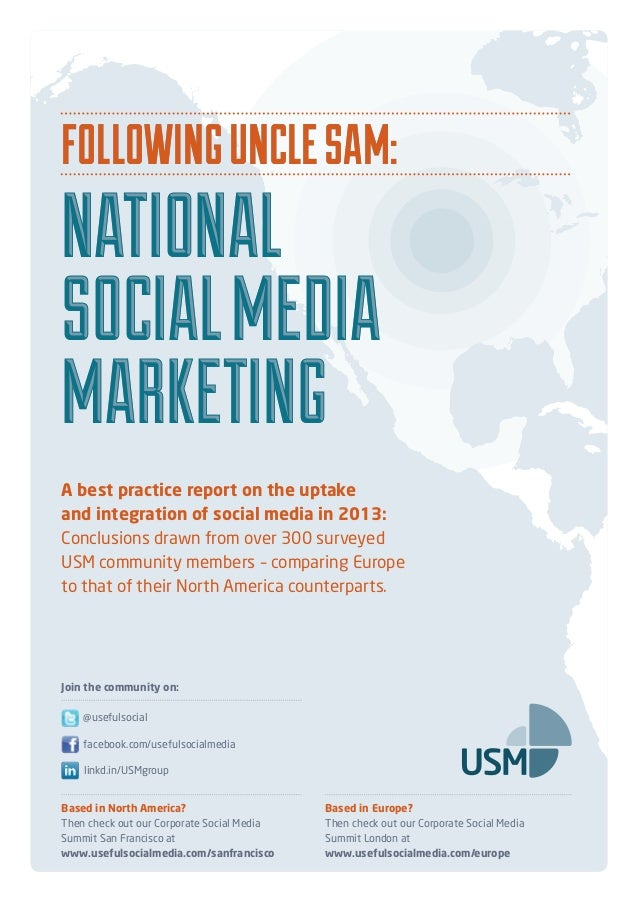 23 page briefing on social media uptake both sides of the pond