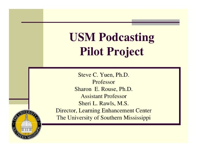 USM Podcasting Pilot Project