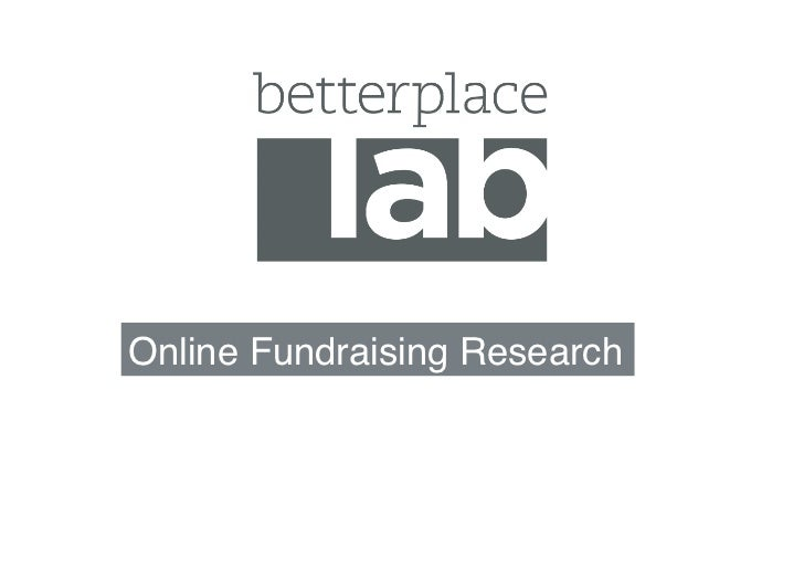 Online Fundraising Research!