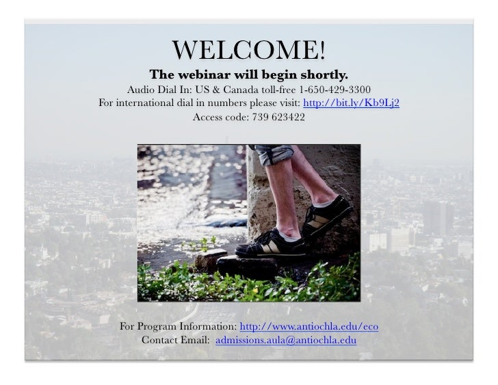 WELCOME!           The webinar will begin shortly.       Audio Dial In: US & Canada toll-free 1-650-429-3300For internatio...