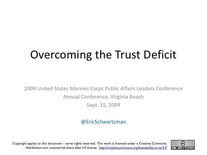 Overcoming the Trust Deficit