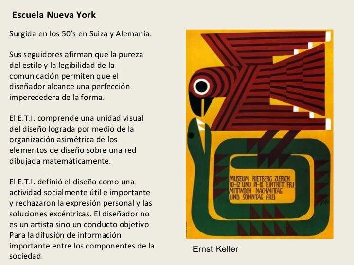 Escuela Nueva York Surgida en los 50's en Suiza y Alemania. Sus seguidores afirman que la pureza del estilo y la legibilid...