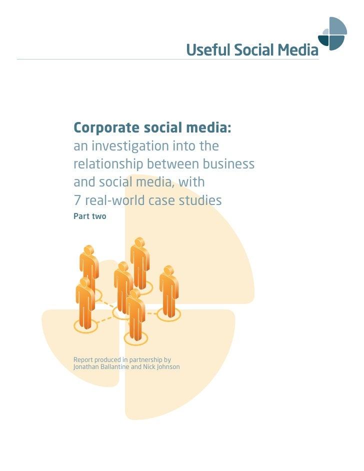 Corporate Social Media White Paper -  Pt 2