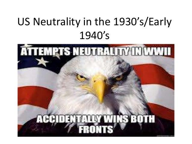 neutrality acts world war 2