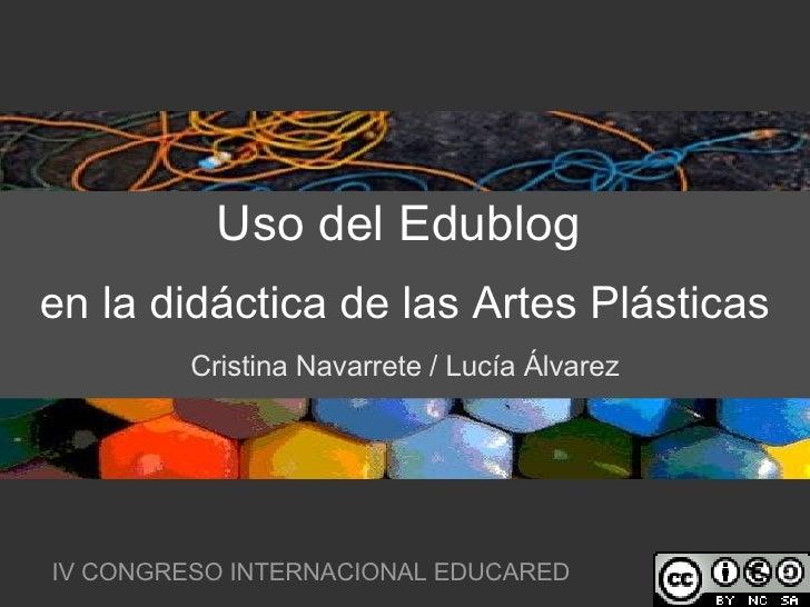 Uso Del Edublog en la didactica de las artes plasticas