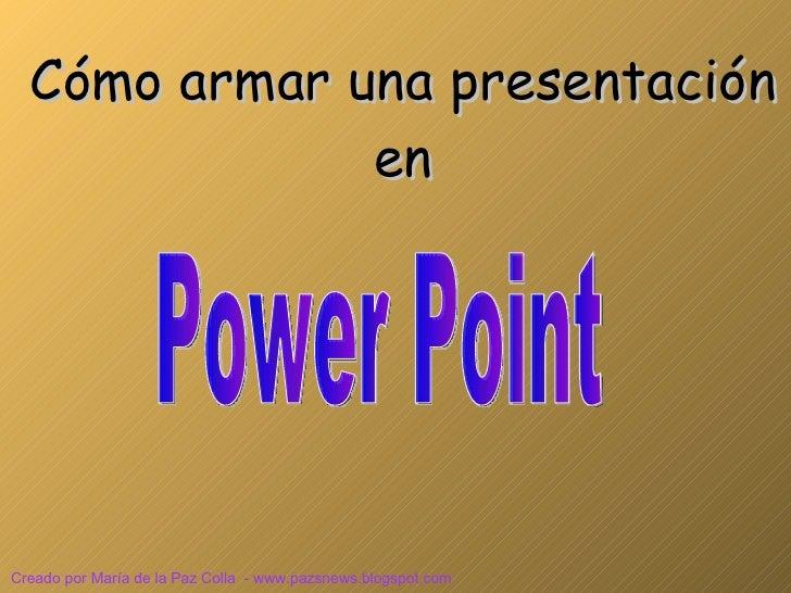 Uso del Power Point Tutorial Online