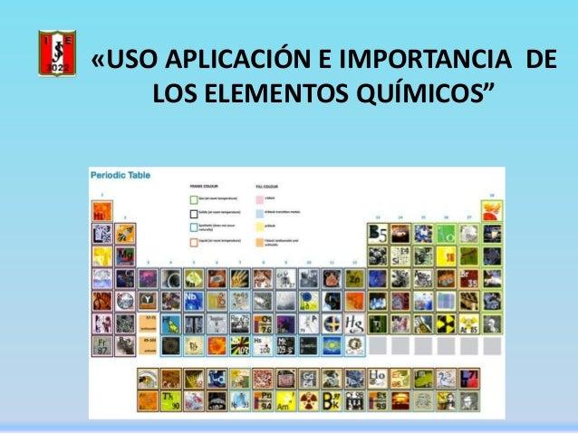 uso aplicacin e importancia de los elementos qumicos - Tabla Periodica Usos