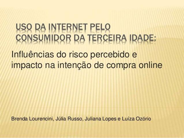 USO DA INTERNET PELO  CONSUMIDOR DA TERCEIRA IDADE:  Influências do risco percebido e  impacto na intenção de compra onlin...