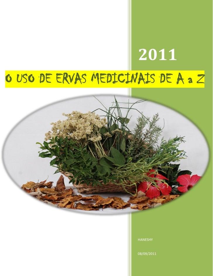 USO DAS ERVAS MEDICINAIS DE A a Z