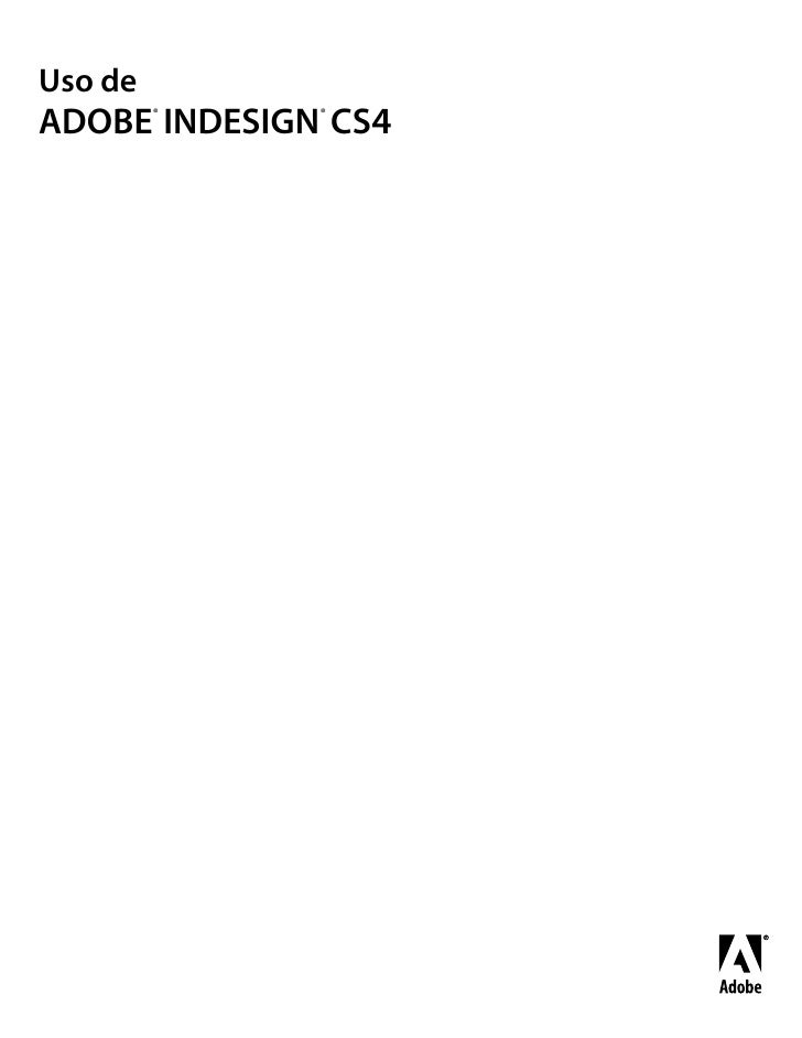 Uso de adobe in Design CS4