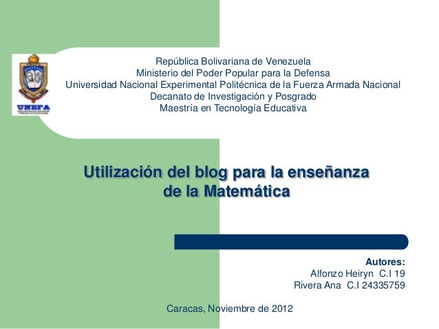 República Bolivariana de Venezuela               Ministerio del Poder Popular para la DefensaUniversidad Nacional Experime...
