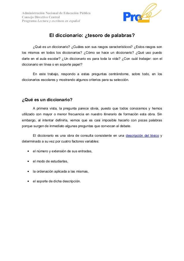 Administración Nacional de Educación PúblicaConsejo Directivo CentralPrograma Lectura y escritura en español              ...