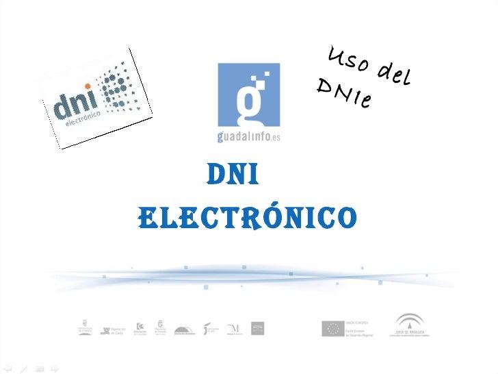 DNI  electrónico Uso del DNIe
