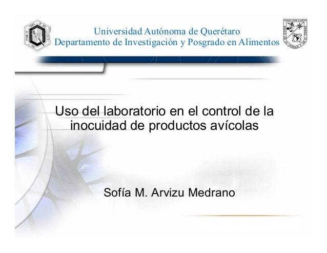 Uso del laboratorio en el control de la inocuidad de productos avícolas