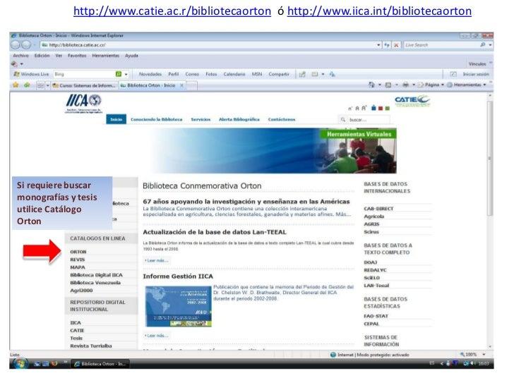 Uso del sitio web Biblioteca Orton