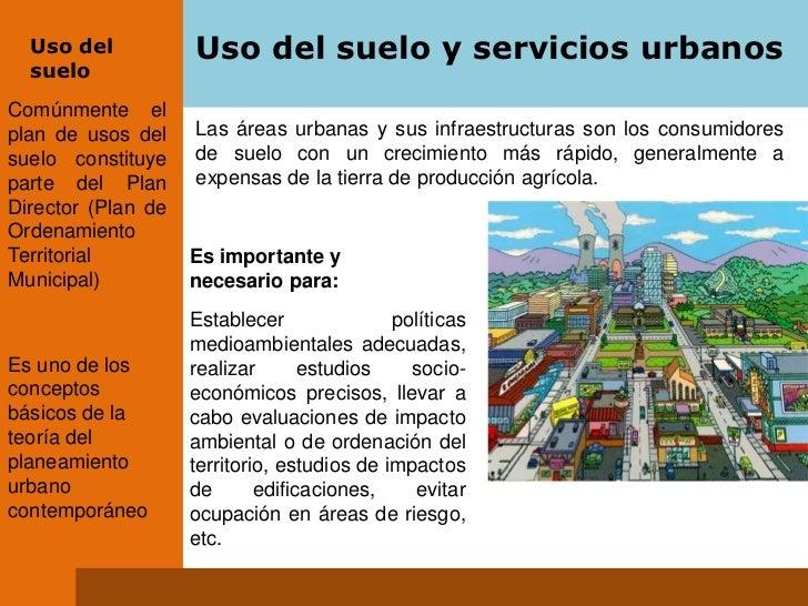 Uso del suelo y servicios urbanos 1 for 4 usos del suelo en colombia