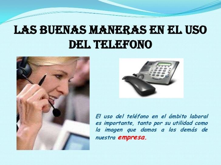 Uso del telefono final for Telefono de la oficina